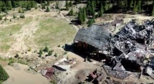 A Drone Flew High Above An Uninhabited Gold Mine In Colorado And Caught The Most Incredible Footage