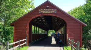The Longest Covered Bridge In Minnesota, Holdingford Bridge, Is 186 Feet Long