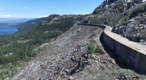 A Drone Flew High Above The Abandoned Donner Pass Tunnels In Northern California And Caught The Most Incredible Footage