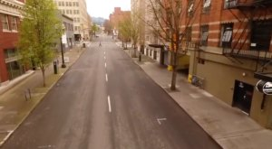 A Drone Captured Eerie But Inspiring Footage Of A Very Empty Portland During The Pandemic In Oregon