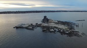 A Drone Flew High Above An Uninhabited Island In Connecticut And Caught The Most Incredible Footage