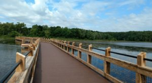 Pickerel Lake Park In Michigan Features A 900-Foot Boardwalk And Stunning Waterfront Views