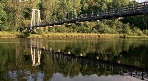 Most Michiganders Haven't Heard Of Little Mac, The Longest Wooden Suspension Bridge In The Lower Peninsula