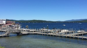 Weirs Beach In New Hampshire Features A 1,300-Foot Boardwalk And Stunning Waterfront Views
