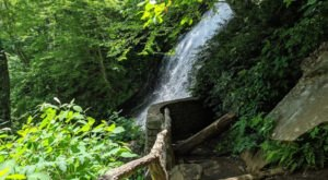 Take A Short Hike From The Parkway To A 200-Foot Cascading Waterfall In North Carolina