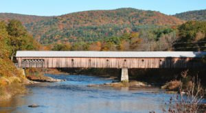 Built In 1872, The West Dummerston Covered Bridge Is The Longest Covered Bridge Entirely In Vermont