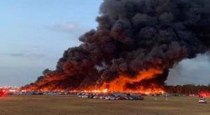 Thousands Of Rental Cars Up In Flames In 15-Acre Fire At Florida Airport
