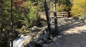 Take This Easy Trail To An Amazing Double Waterfall In New Hampshire