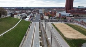 This Surreal Drone Footage Shows Just How Empty The Streets Of Baltimore Are Due To The Pandemic