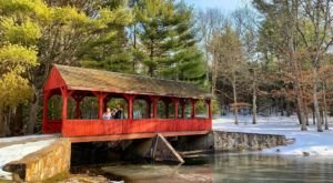 Walk Through An Enchanting Covered Bridge On The Stratton Brook Trail, An Easy Hike In Connecticut