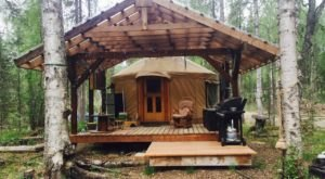 Plan A Weekend Retreat Away From It All At This Rustic Yurt In Alaska