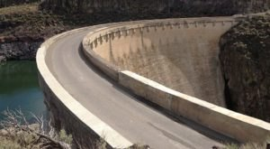 Driving Across The Salmon Creek Dam In Idaho Is An Unforgettable Thrill