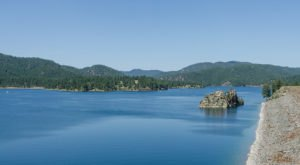 The Water Is A Brilliant Blue At Pactola Lake, A Refreshing Roadside Stop In South Dakota