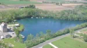 The Water Is A Brilliant Blue At Gilboa Quarry, A Refreshing Roadside Stop In Ohio