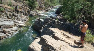 Enjoy Crystal-Clear Water At Yaak River Falls, A Gorgeous Swimming Hole Tucked Away In Montana