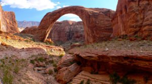 One Of The Largest Natural Bridges In The World, Rainbow Bridge, Is A Stunning Destination Near The Arizona-Utah Border