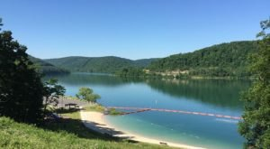 The Water Is A Brilliant Blue At Jennings Randolph Lake, A Refreshing Roadside Stop In West Virginia