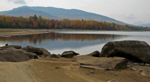 Most People Don't Know There's A Lost City Hiding In Maine's Flagstaff Lake