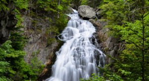 Plan A Visit To Crystal Cascades, New Hampshire's Beautifully Blue Waterfall