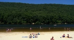 You Might Just Have A Slice Of Paradise To Yourself At Poe Valley State Park, A Secluded Beach In Pennsylvania