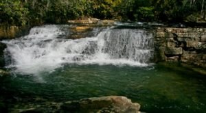 Take A Refreshing Dip At The Base Of Dismal Falls, Virginia's Very Own Plunge Pool