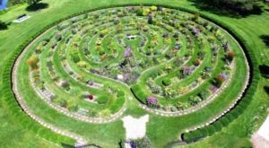 Take A Serene Stroll Through A Maze Of Flowers At The Labyrinth Garden Earth Sculpture In Wisconsin