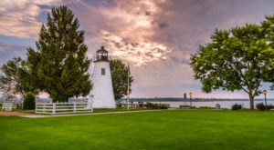 The Most Photographed Lighthouse In Maryland Is Hiding In The Small Town Of Havre de Grace