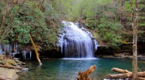 This Easy 1.5-Mile Trail Leads To Stinging Fork Falls, One Of Tennessee's Most Underrated Waterfalls