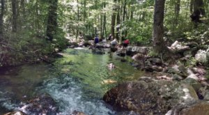 Some Of The Cleanest And Clearest Water Can Be Found At Virginia's Mountain Run Swimming Hole