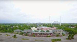 A Drone Flew High Above An Abandoned Amusement Park In Louisiana And Caught The Most Incredible Footage