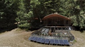 This Isolated And Beautiful Compound In The Middle Of The Redwoods In California Is An Off-The-Grid Paradise