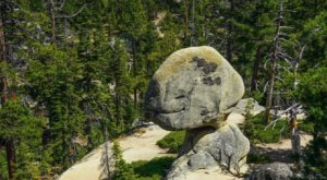 Follow This Sweet Little Half-Mile Trail In Northern California To Balancing Rock, A Weird Geologic Wonder