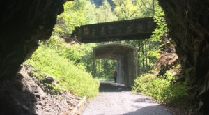 Hike Through An Old Train Tunnel On The Powell River, A Beautiful Wooded Virginia Trail