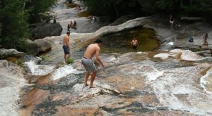 There's A Natural Waterslide Hidden At Step Falls Preserve In Maine That Everyone Should Visit This Summer