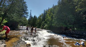 The Natural Swimming Hole At Ocqueoc Falls In Michigan Will Take You Back To The Good Ole Days