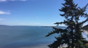 The Water Is A Brilliant Blue At Fort Worden State Park, A Refreshing Stop In Washington
