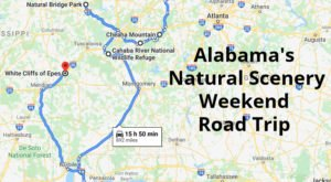 This Weekend Road Trip Will Lead You To Some Of Alabama's Most Beautiful Natural Scenery