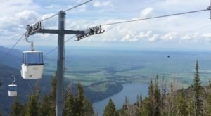 Take A Ride On The Steepest Four-Person Gondola In North America At Oregon's Wallowa Lake Tramway
