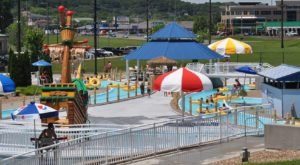 The Absolutely Gigantic Splash Pad At Cape Splash Family Aquatic Center Will Entertain Children And Adults Alike On A Hot Summer Day In Missouri