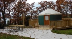 There's Nothing Like An Overnight Stay In A Yurt At Pomme De Terre State Park In Missouri