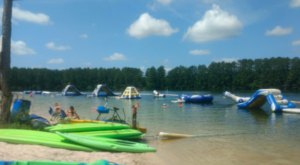 Complete With An Aqua Park And Boat Rentals, White Sands Lake Is A Little-Known Louisiana Swimming Hole You'll Love