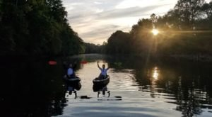 Depart At Dusk For A Unique Kayaking Trip On Pennsylvania Waterways You'll Never Forget