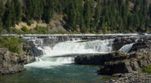 Plan A Visit To Kootenai Falls, Montana's Beautifully Blue Waterfall