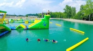 Aqua Adventures Is A Floating Waterpark In Ohio That's Fun For The Whole Family