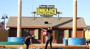 Watch Real Lumberjacks Show Off Their Skills At The Lumberjack Feud Show In Tennessee