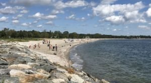 Follow A Sandy Path To The Waterfront When You Visit Sherwood Island State Park In Connecticut