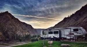 Mountains Will Tower Over You When You Stay At The Carlson Ranch Campground In Idaho