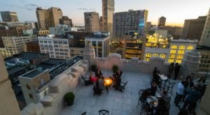 You'll Never Want To Leave The Rooftop View When You Visit The Monarch Club In Detroit