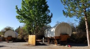 There's A Covered Wagon Campground In Washington And It's A Unique Overnight Adventure