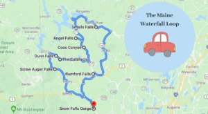 Maine's Scenic Waterfall Loop Will Take You To 8 Different Waterfalls